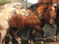 """Victorian 19th Century Oil Painting Horses """"On The Road"""" To Chester Edward Lloyd Ellesmere (37 of 56)"""