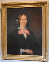 Victorian Naïve Portrait Oil Painting of a Lady (3 of 9)