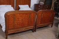 Handsome Pair of Parquetry Large Single Beds (8 of 10)