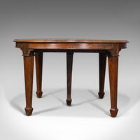 Antique Colonial Campaign Table, Indian, Rosewood, Dining, Extending, Victorian (4 of 12)