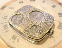 Antique Pocket Watch Chain Fob 1920s J W Benson Silver Nickel Coin Holder Fob (5 of 10)