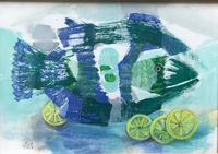 Original Oil on Canvas Paper 'lemon Sole' by Helen Hale. Roi. B.1936 Signed. Circa 1970. Framed (2 of 2)