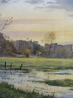 Watercolour Amberley Sunset Listed artist Andrew Dandridge (Free shipping to Mainland England) (6 of 10)
