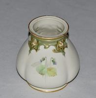 1908 - Royal Worcester - Hand Painted Ovoid Shaped Small Vase - Signed Cole (3 of 9)