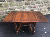 Antique Oak Barley Twist Extending Dining Table (6 of 9)