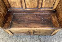 Antique Pine Panelled Box Settle (9 of 16)