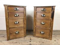Pair of Pine Bedside Tables with Marble Tops (2 of 10)