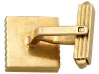 Diamond & 18ct Yellow Gold Cufflinks - Art Deco Style - Vintage German c.1960 (9 of 9)