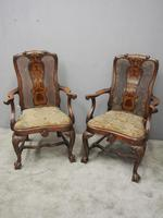 Pair of Queen Anne Style Walnut Armchairs (17 of 17)