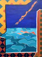 20th Century - British - Contemporary - Abstract Oil Painting of Naked Diver (2 of 11)