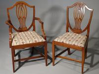 Most Elegant Set of 8 Early 20th Century  Walnut Framed Dining Chairs (5 of 5)