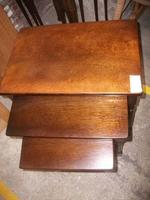 Nest of Three Oak Occasional Tables (2 of 2)