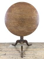 19th Century Oak Circular Tilt Top Tripod Table (9 of 12)