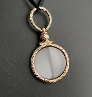 Antique Georgian Gold Quizzing Glass, Pendant, 9ct (8 of 10)