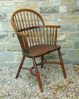 Antique Oak Windsor Chair (4 of 8)