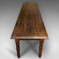 Very Large 13' Antique Dining Table, English, Pine, Country House, Victorian (6 of 12)