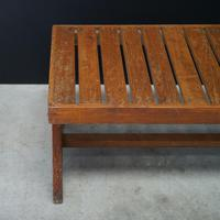 Slatted Bench V-type by Pierre Jeanneret c.1955/56 (3 of 6)