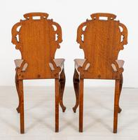Wonderful Pair of Victorian Oak Hall Chairs (6 of 7)