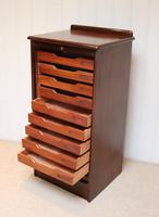Mahogany Tambour Front Filing Cabinet (4 of 10)