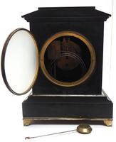 Antique French Slate & Ormolu Mantel Clock striking 8 day (3 of 11)