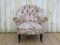 Antique Napoleon III Tub Armchair for re-upholstery (8 of 8)