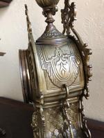 Antique French Gilded Bronze 8 Day Striking Garniture Set / Mantel Clock (4 of 9)