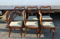 1850s Set 6 Victorian Mahogany Dining Chairs with Pale Green Upholstery (2 of 3)