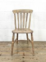 Set of Four Slat Back Antique Kitchen Chairs (4 of 10)