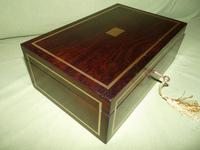 Quality Unisex Inlaid Rosewood Jewellery Box. c1840 (11 of 11)