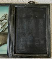 Pair of Chinese Reverse Glass Painting c.1920 (6 of 9)