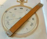 Vintage Wrist Watch Strap 1940s WW2 Military 16mm Brown Pig Skin Spring Loaded Ends Nos (5 of 12)