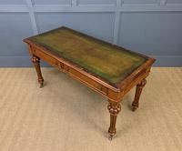 Very Good Victorian Burr Walnut Writing Table (13 of 16)