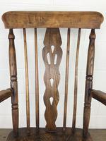 Antique Beech & Elm Windsor Armchair (5 of 12)
