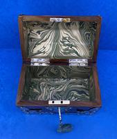 Victorian Brassbound Walnut Box c.1850 (9 of 10)