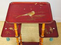 Antique French Lacquered & Faux Bamboo Table Stand (3 of 5)