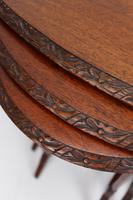 Antique Victorian Nest of 3 Mahogany Tables (13 of 13)