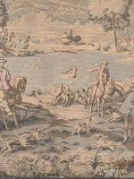 Superb 19th Century Tapestry Depicting Hunting Scene (5 of 7)