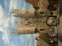 """Fine Oil Painting Architectural Entrance """"Micklegate Bar"""" York Signed F Chilton (31 of 31)"""