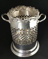 Edwardian Silver Plated Reticulated  Wine Bottle Holder (2 of 7)