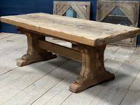 Superb Very Rustic French Oak Bleached Oak Farmhouse Dining Table (4 of 32)