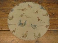Voyage Maison Round Footstool, Game Bird Fabric (2 of 17)