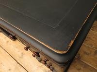 Antique Black Painted Pedestal Desk, 3 Parts, Gothic Shabby Chic (8 of 17)