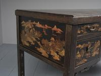 Chinese Gilded & Black Lacquered Desk (7 of 20)
