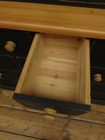 Black Painted Pine Apothecary Cabinet Style Dresser with Multi Drawer Base (11 of 18)