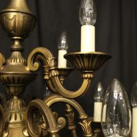 French Gilded Brass 12 Light Tiered Chandelier Oka04098 (5 of 10)