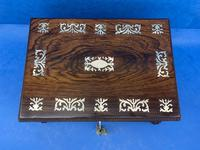 William IV Rosewood Box With Mother Of Pearl Inlay (7 of 14)