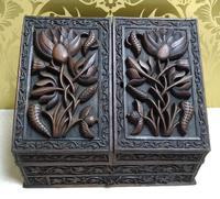 Beautiful Profusely Carved Burmese Writing Box c.1880
