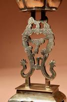 Decorative Chinese Brass Dragon Candlestick c.1900 (8 of 8)