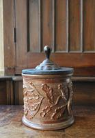 Antique French Stoneware Tobacco Jar (3 of 7)