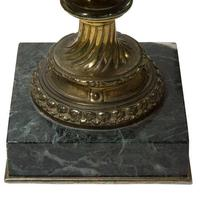 Pair of Green Marble Gilt Metal Mounted Table Lamps 19th Century (6 of 7)